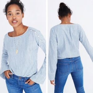 Madewell convertible cold shoulder top